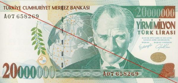 En büyük küpürlü Türk Lirası banknotu