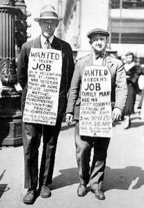 1929 krizinde iş bulmak kolay değildi