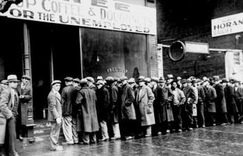Büyük Bunalım'da sayıları milyonları aşan işsizlerin bir bölümü